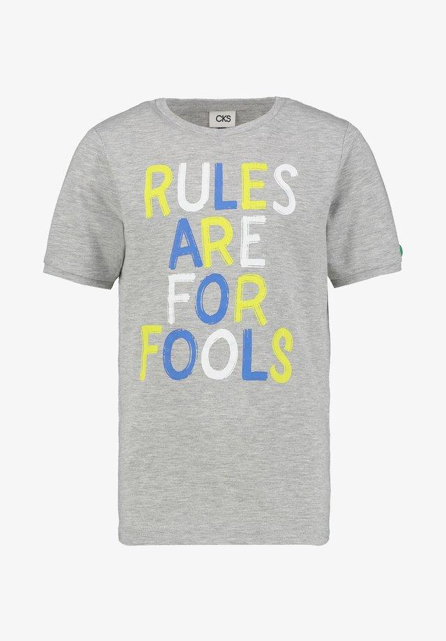 YALIS - T-shirt print - grey melee