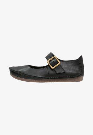 JANEY JUNE  - Ankle strap ballet pumps - black