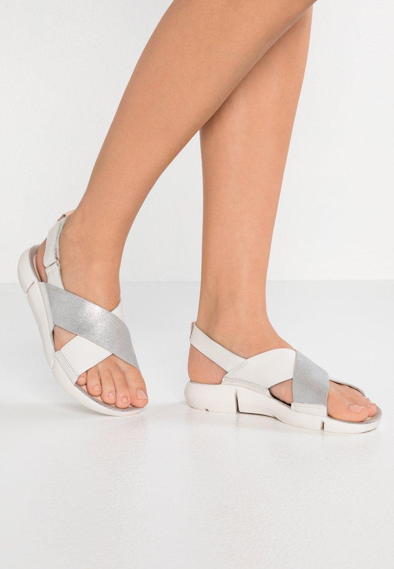 Clarks - TRI  - Sandály - white/silver