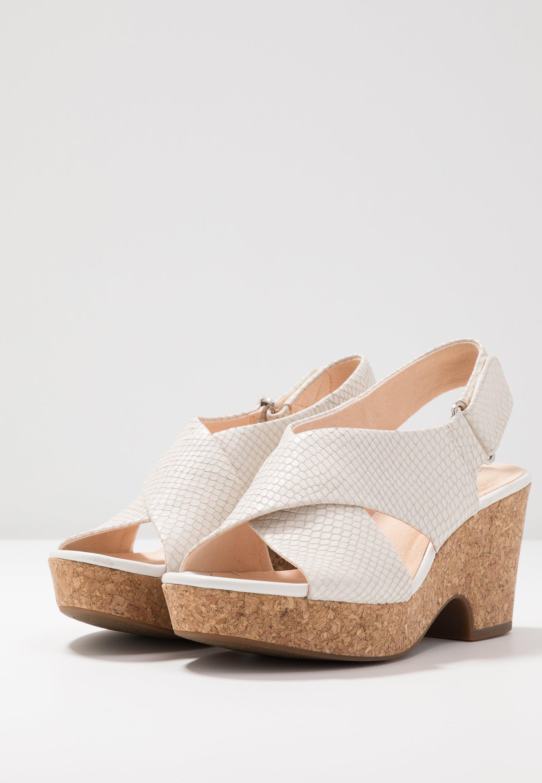 Clarks MARITSA LARA - Platform sandals - white
