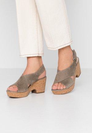 MARITSA LARA - Platform sandals - sage