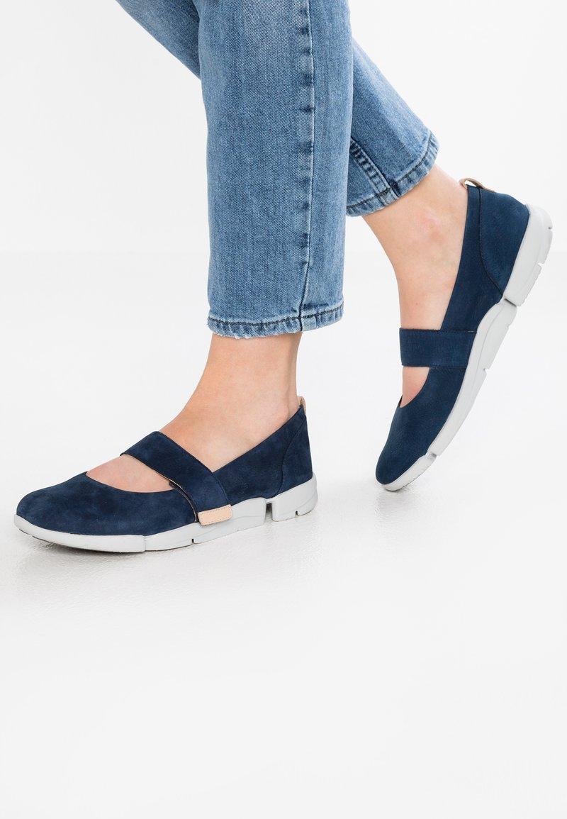 Clarks - TRI CARRIE - Ankle strap ballet pumps - navy