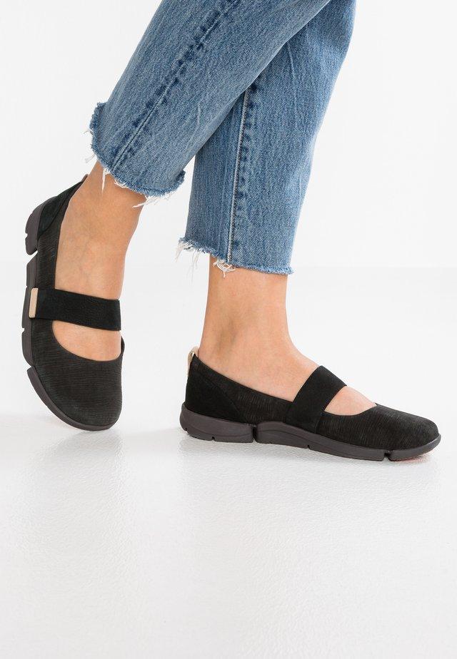 TRI CARRIE - Ankle strap ballet pumps - black