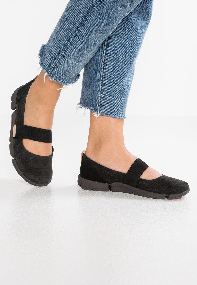 Clarks - TRI CARRIE - Ankle strap ballet pumps - black
