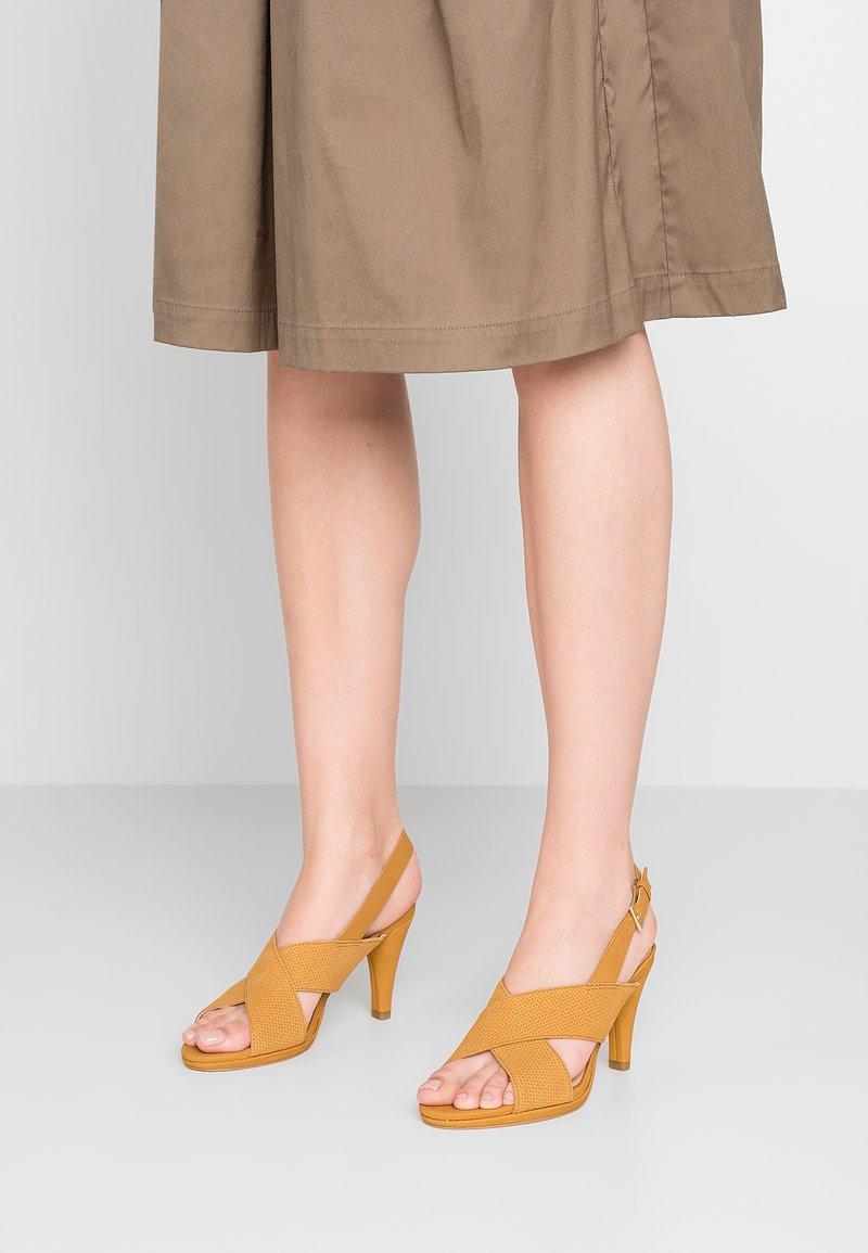 Clarks - DALIA LOTUS - High heeled sandals - ochre