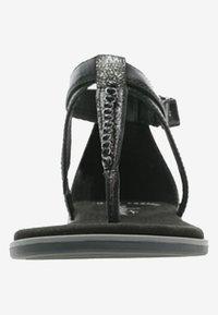 Clarks - BAY POPPY - Sandalias de dedo - black - 5