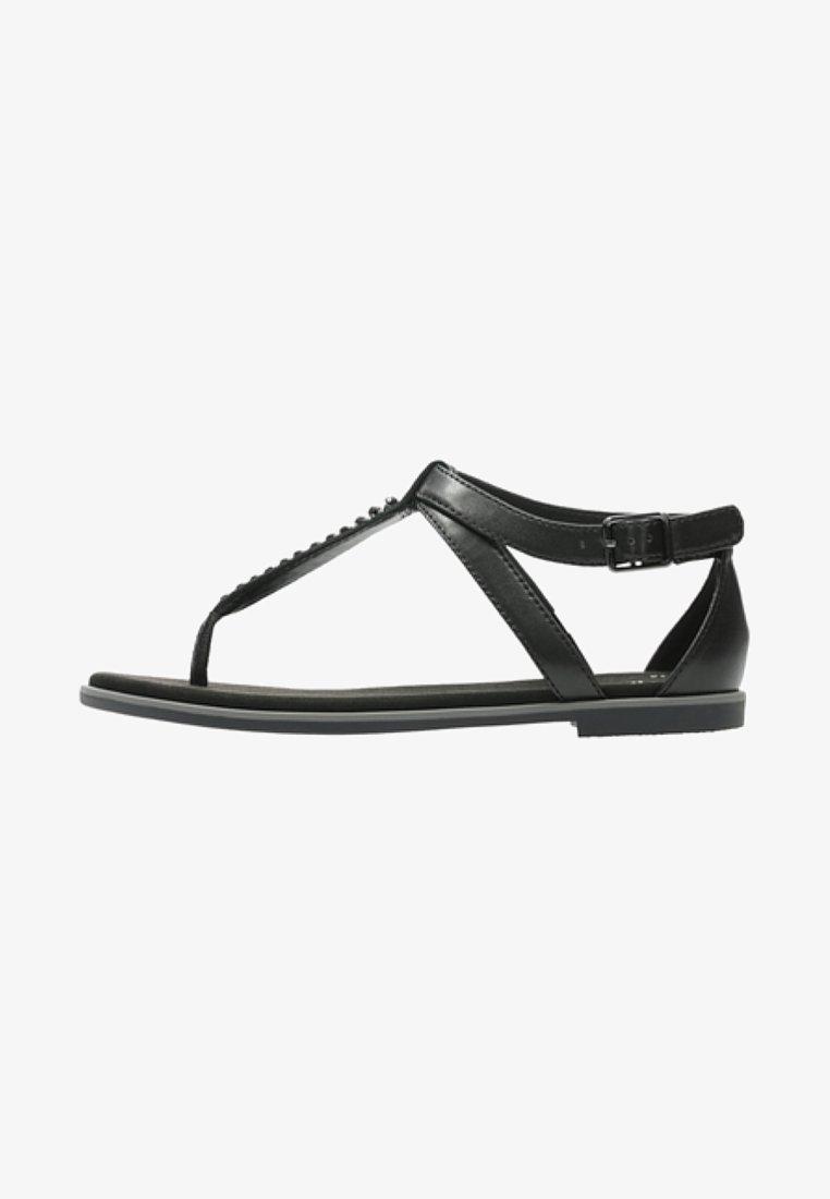 Clarks - BAY POPPY - Sandalias de dedo - black