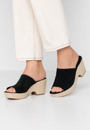 MARITSA MULE - Pantofle na podpatku - black