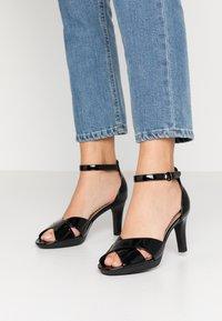 Clarks - ADRIEL COVE - High heeled sandals - black - 0