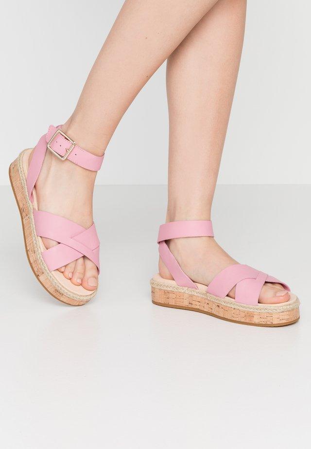 BOTANIC POPPY - Espadrilles - pink