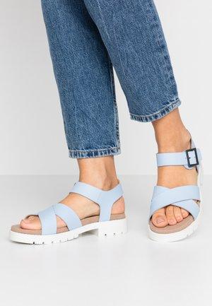 ORINOCO STRAP - Platform sandals - sky blue