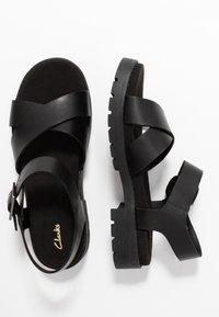 Clarks - ORINOCO STRAP - Platform sandals - black - 3