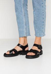 Clarks - ORINOCO STRAP - Platform sandals - black - 0