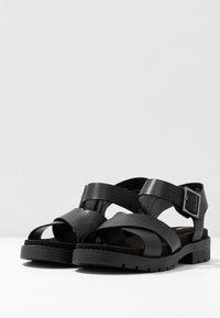 Clarks - ORINOCO STRAP - Platform sandals - black - 4