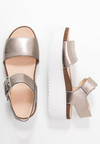 Clarks - BOTANIC STRAP - Platform sandals - stone - 3