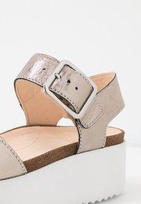 Clarks - BOTANIC STRAP - Platform sandals - stone - 2