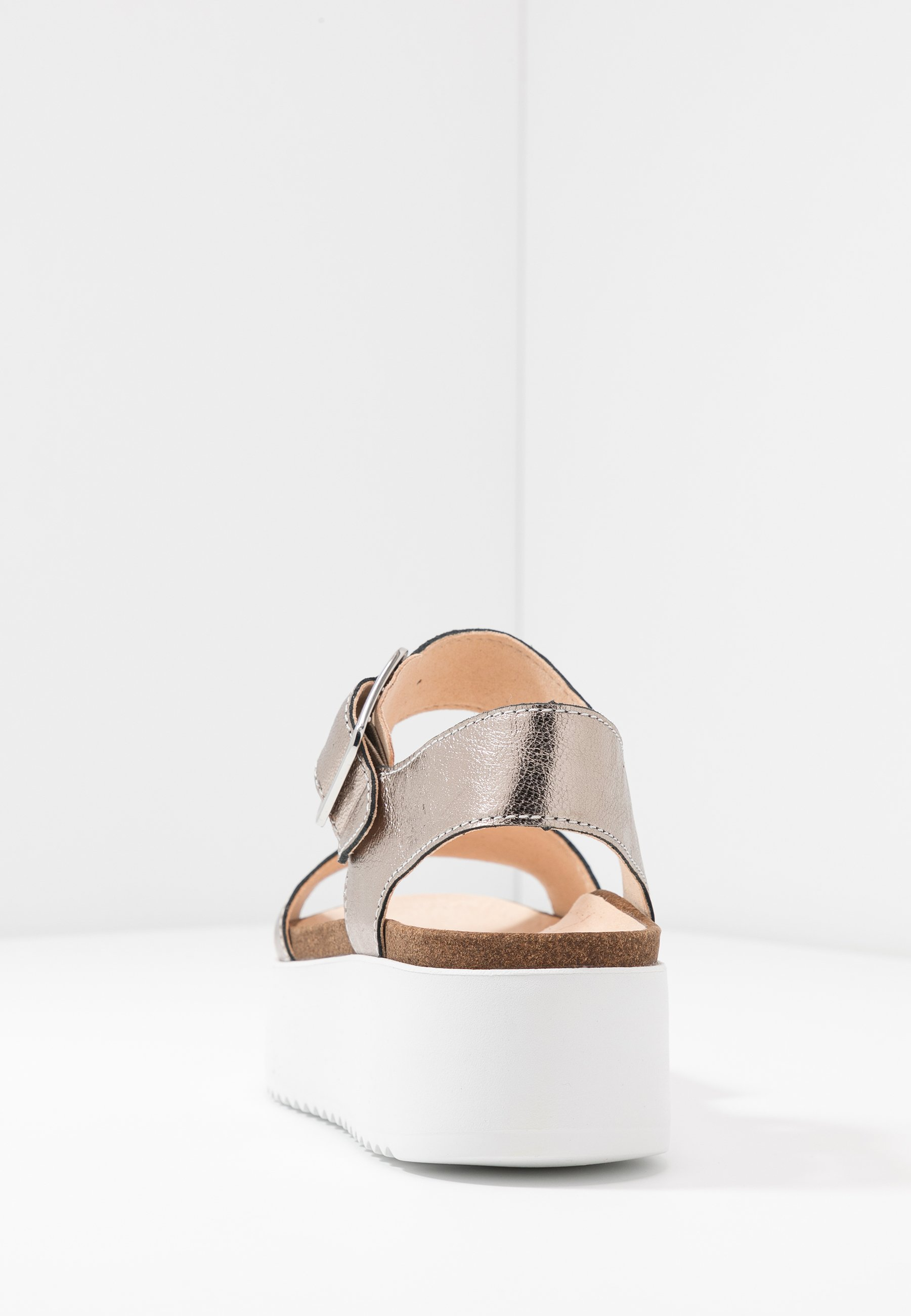 Clarks BOTANIC STRAP - Sandales à plateforme - stone