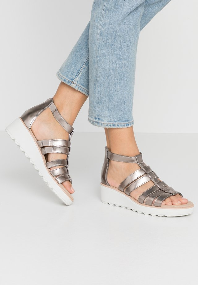 JILLIAN NINA - Platform sandals - pewter metallic