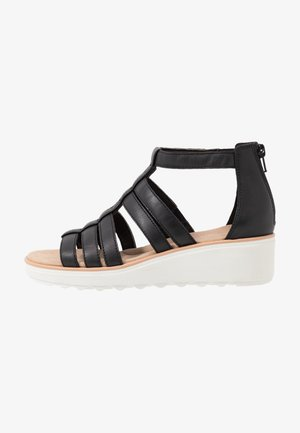 JILLIAN NINA - Platform sandals - black
