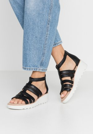 JILLIAN NINA - Plateausandalette - black