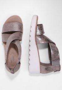Clarks - Sandalen met sleehak - zinn-metallic - 2