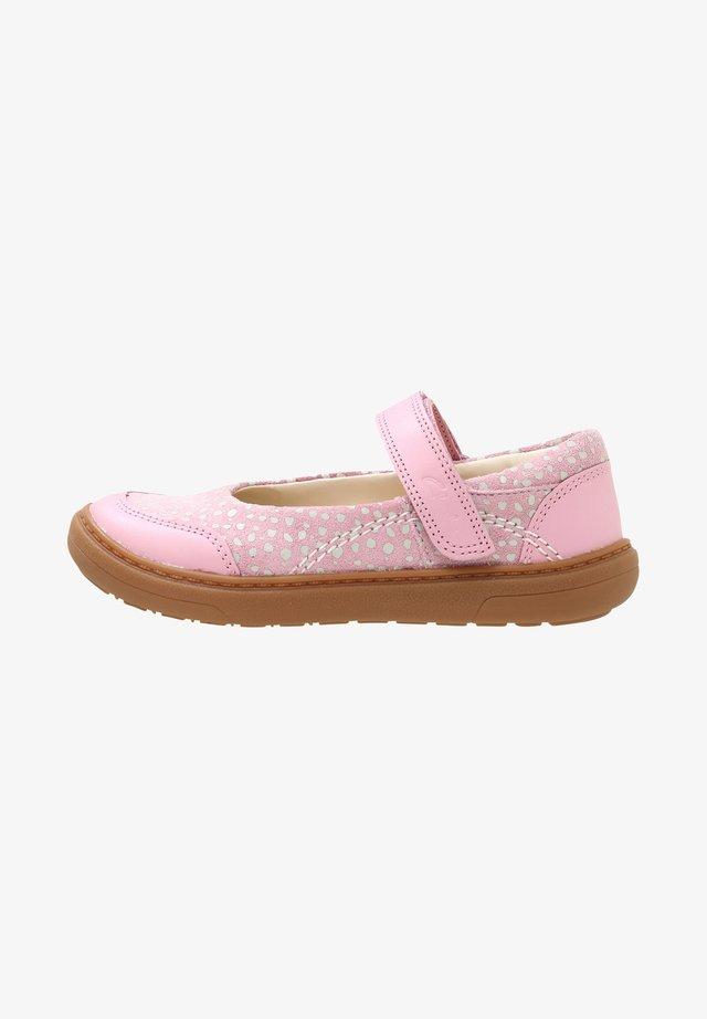 FLASH STRIDE  - Ankle strap ballet pumps - dusky pink