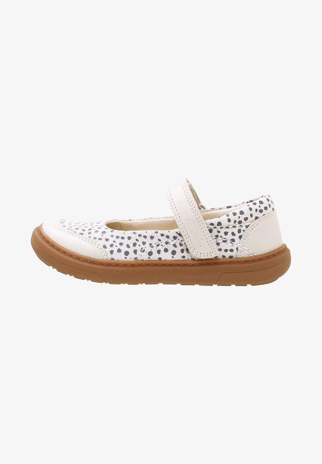 FLASH STRIDE  - Ankle strap ballet pumps - beige