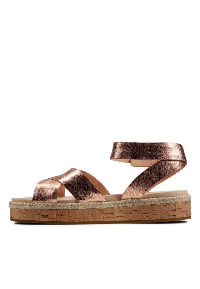 Sandals - rosé-goldfarbenes leder
