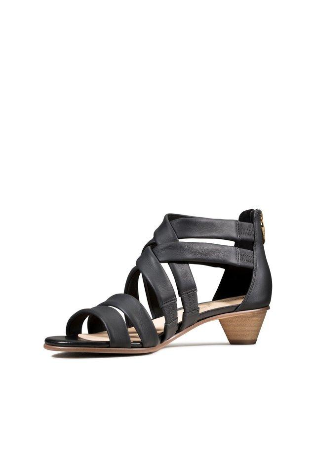 MENA SILK - Sandals - schwarz