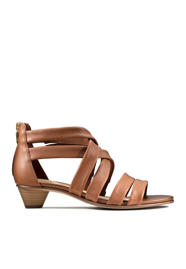 MENA  - Sandals - hellbraunes leder
