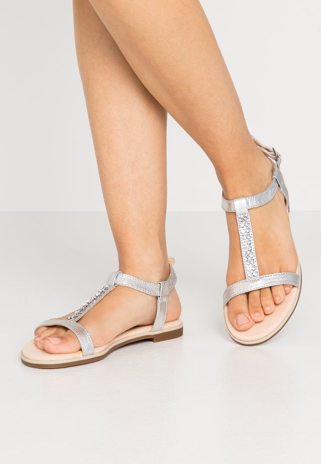 BAY ROSA - Sandals - silver