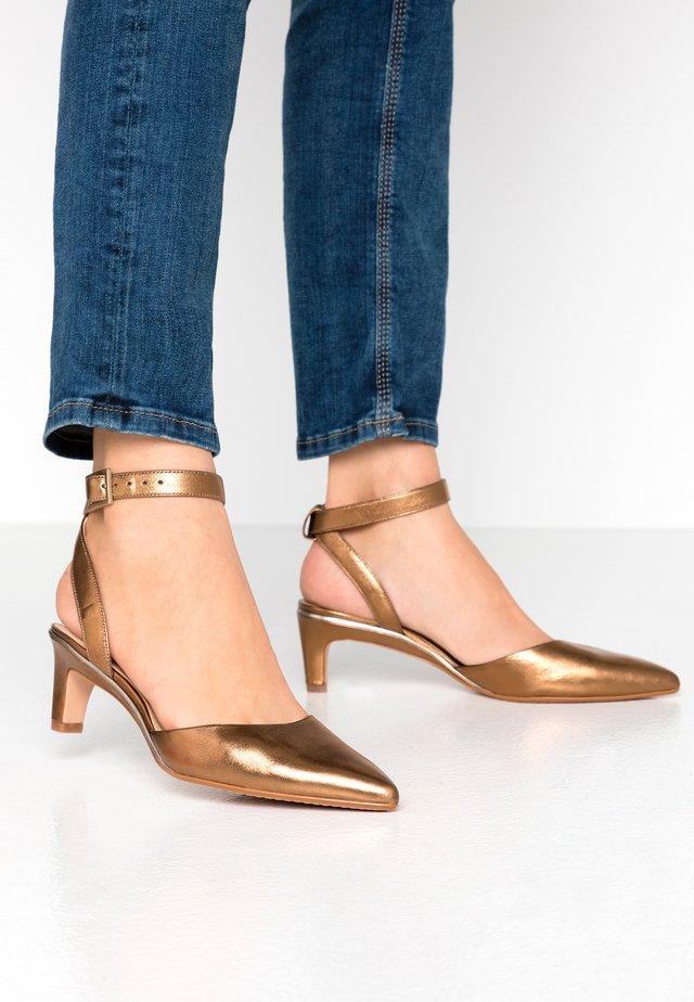 ELLIS GLAM - Tacones - bronze metallic