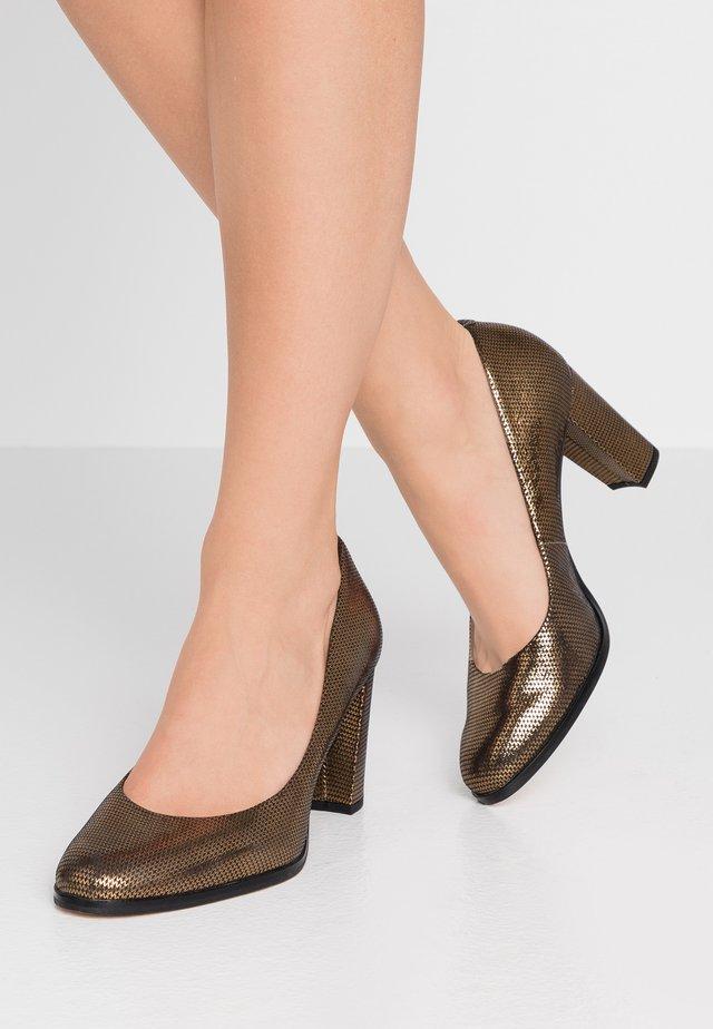 KAYLIN CARA - Tacones - bronze metallic