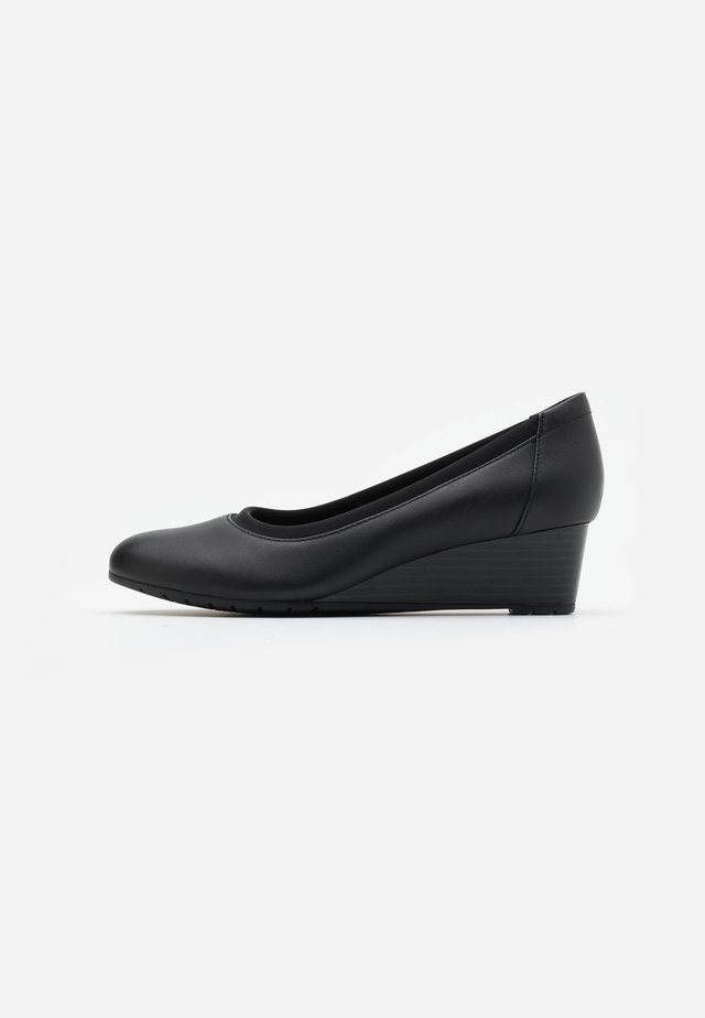 MALLORY BERRY - Wedges - black