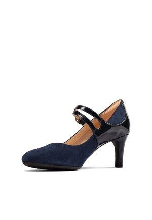DANCER REECE - Classic heels - dunkelblaues leder