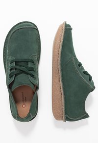 Clarks Unstructured - FUNNY DREAM - Stringate sportive - forest green - 3