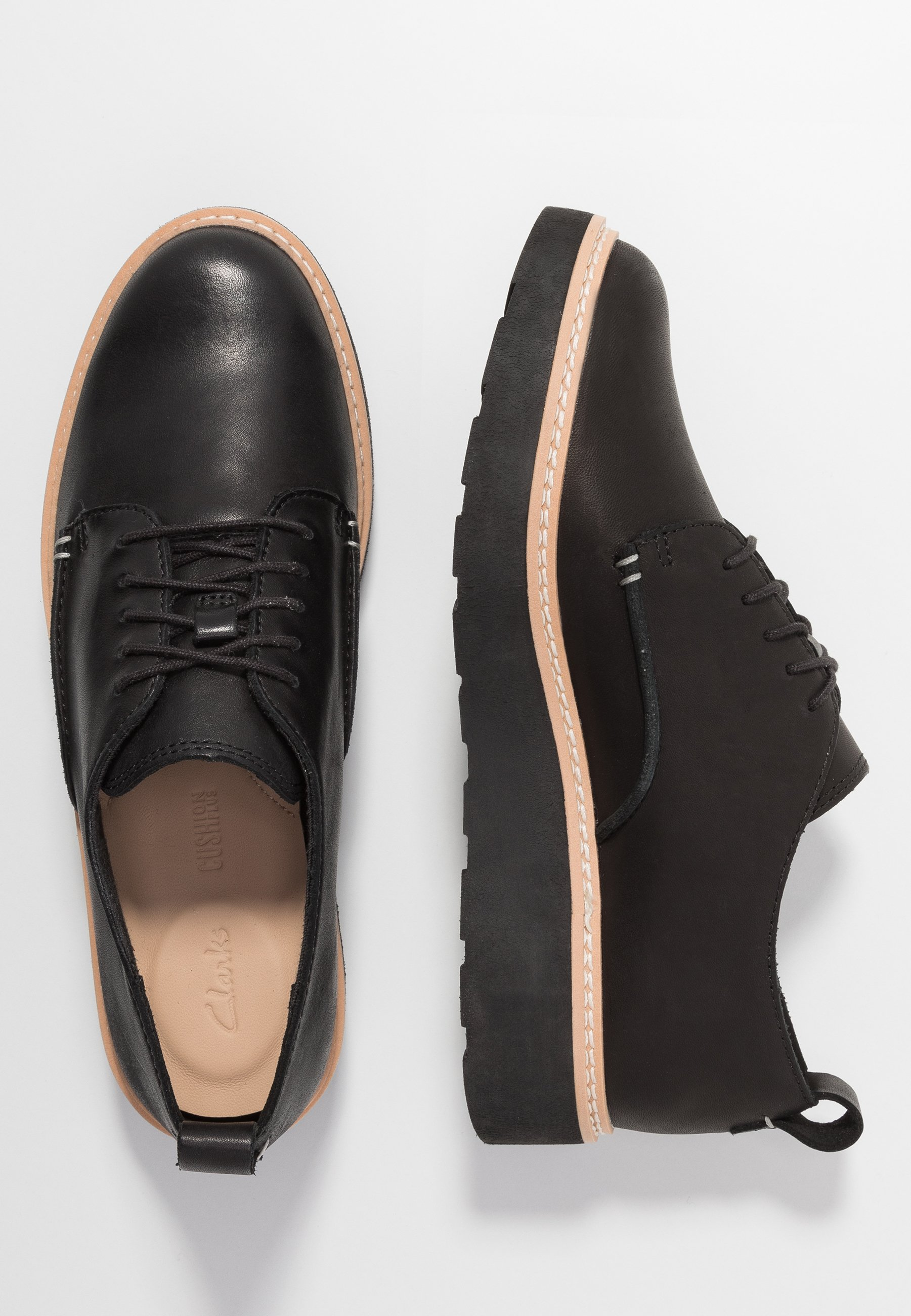Clarks TRACE WALK - Derbies - black