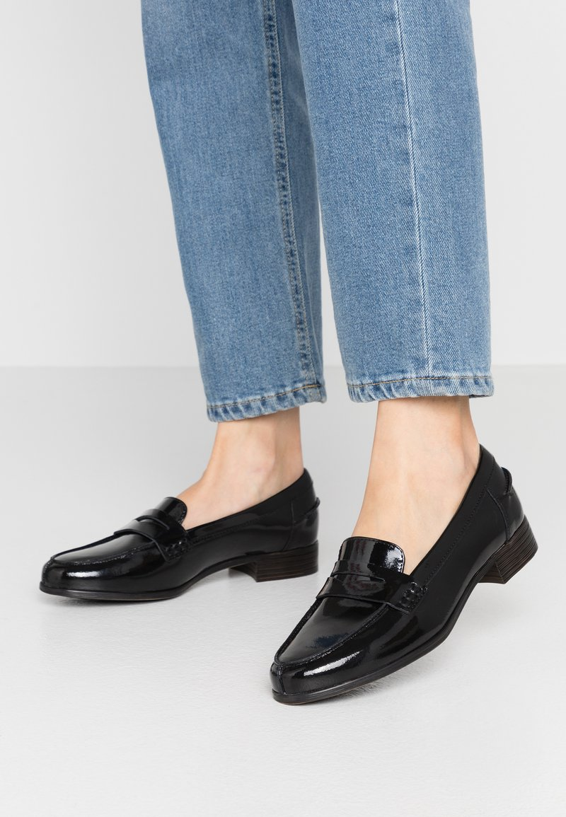 Clarks - HAMBLE LOAFER - Slip-ons - black