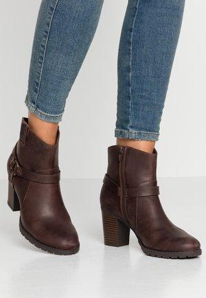 VERONA ROCK - Cowboy- / bikerstøvlette - dark brown