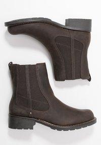 Clarks - ORINOCO HOT - Kotníkové boty - dark brown - 3