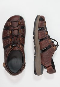 Clarks - BRIXBY COVE - Outdoorsandalen - dark brown - 1