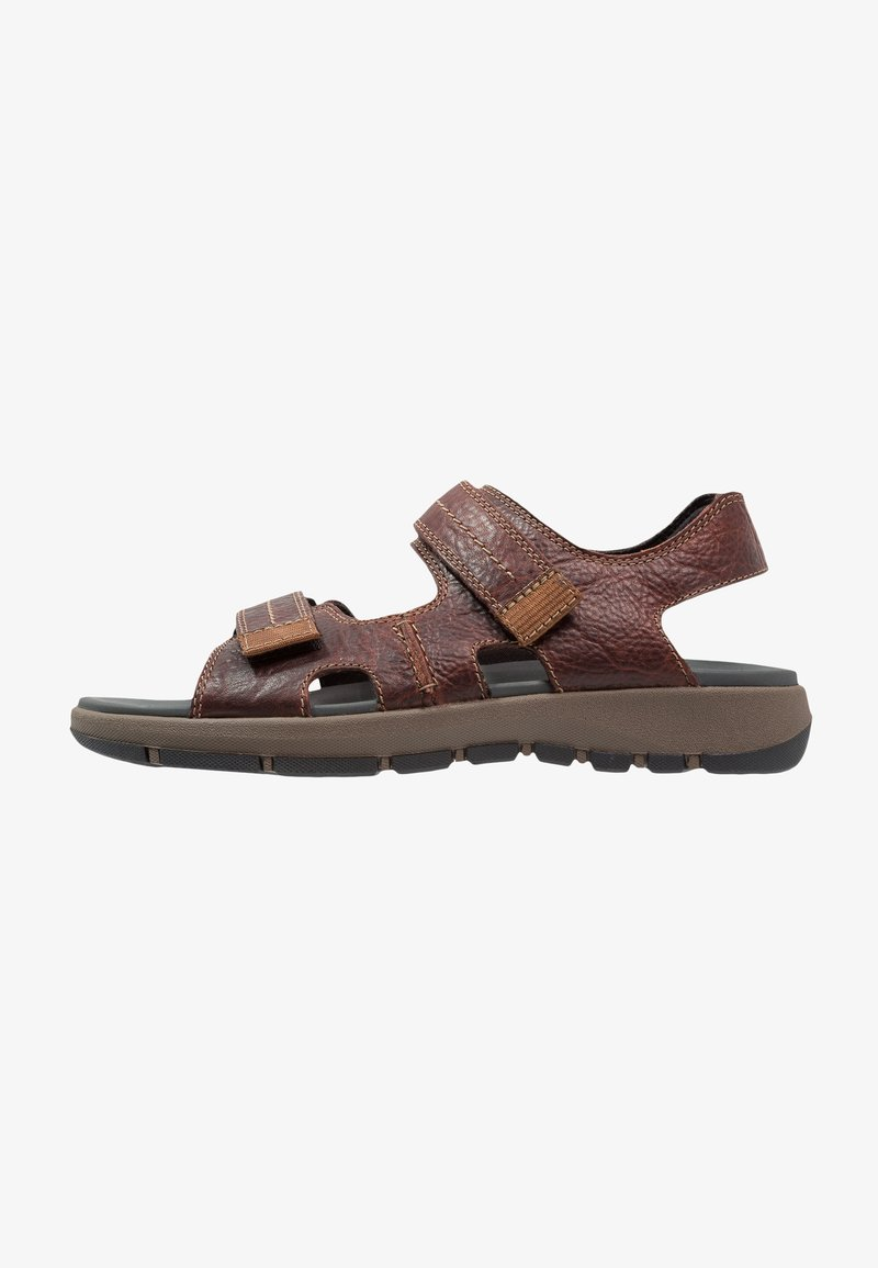 Clarks - BRIXBY SHORE - Walking sandals - marron foncé