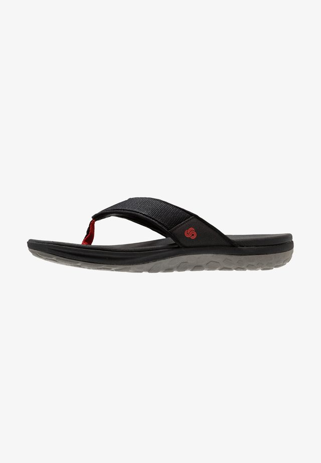 STEP BEAT DUNE - Sandalias de dedo - black