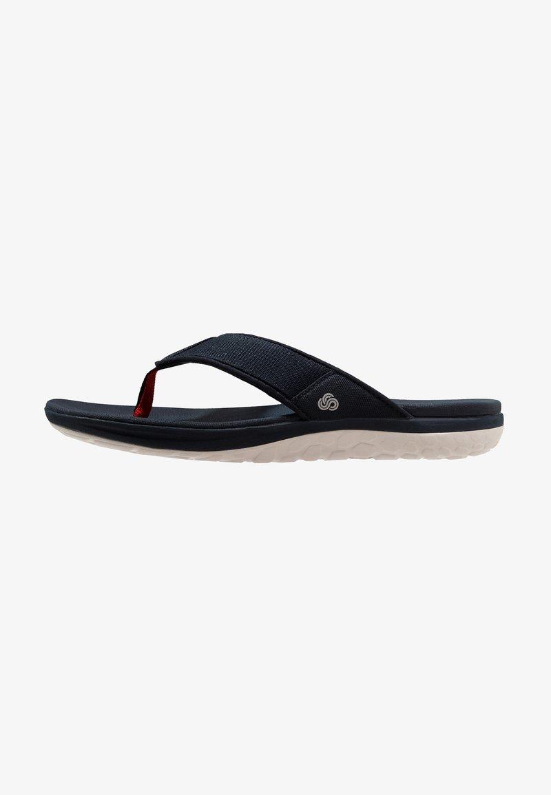 Clarks - STEP BEAT DUNE - T-bar sandals - navy