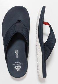 Clarks - STEP BEAT DUNE - T-bar sandals - navy - 1