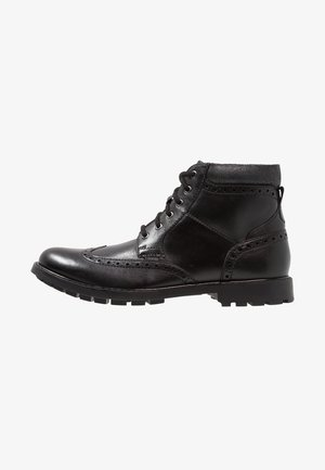 CURINGTON RISE - Lace-up ankle boots - black smooth