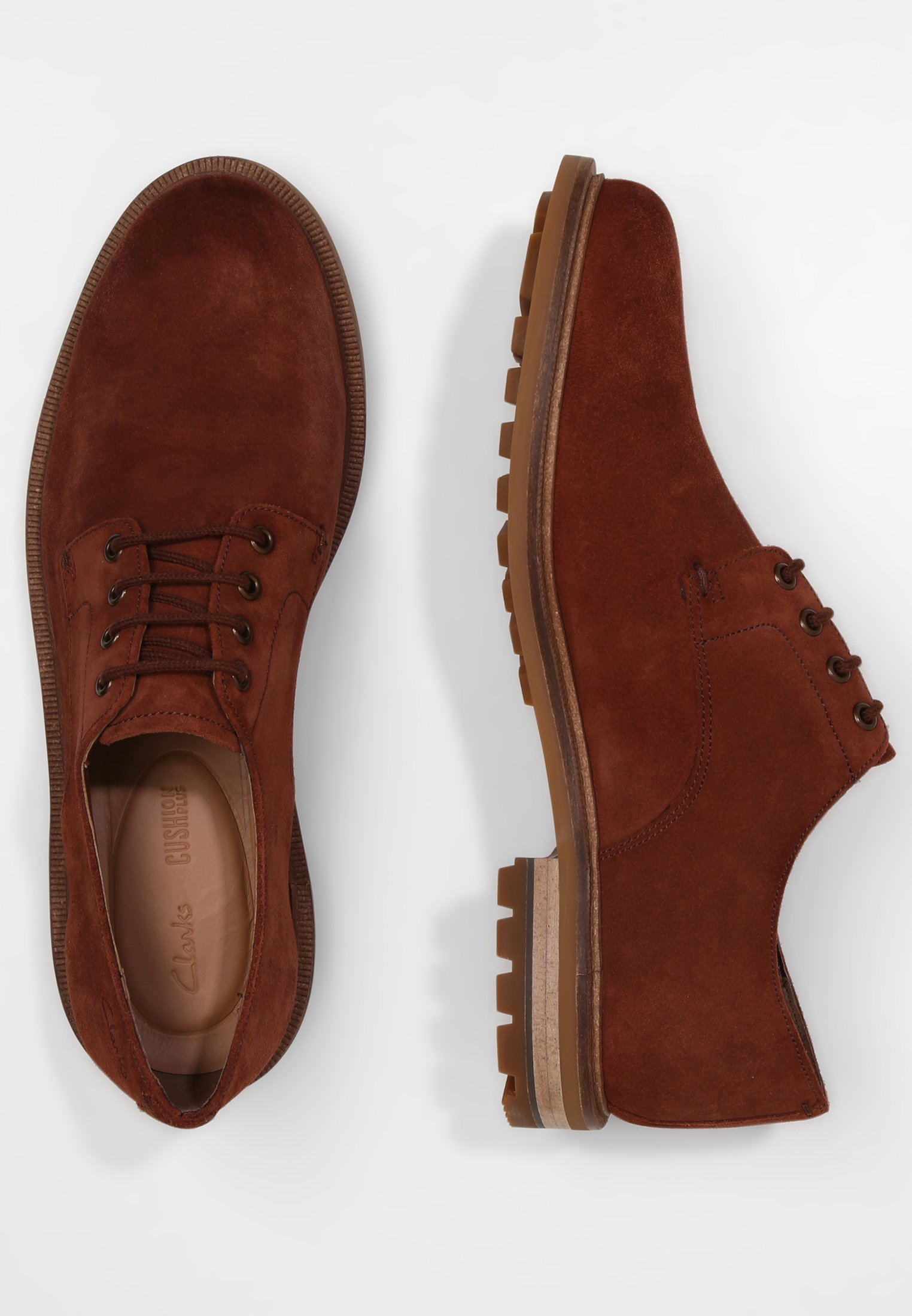 Clarks FOXWELL HALL - Chaussures à lacets - berry/brown