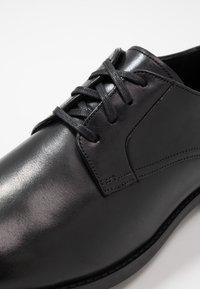 Clarks - RONNIE WALK - Smart lace-ups - black - 5