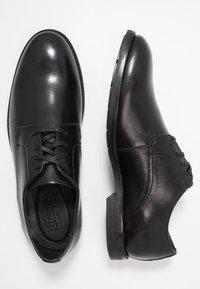 Clarks - RONNIE WALK - Smart lace-ups - black - 1