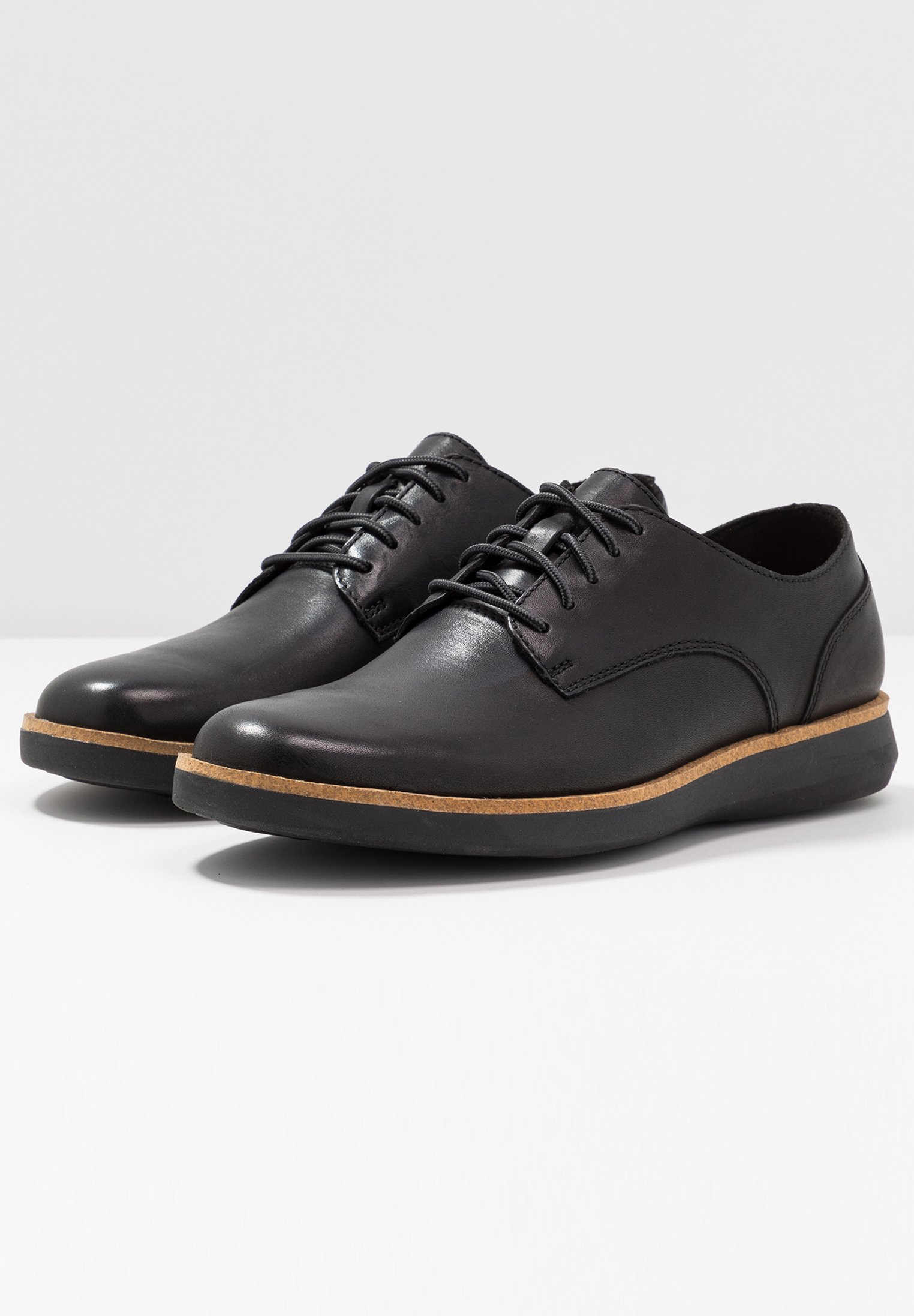 Clarks FAIRFORD RUN - Chaussures à lacets black